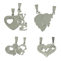 Stainless Steel Couple Pendants